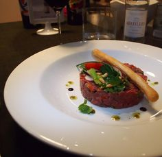Fancy French steak tartare for lunch in the Caribbean? Mais oui at Bacchus St. Martin! #ilesaintmartinwk