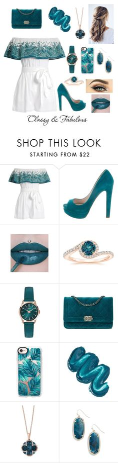"""Classy and fabulous"" by believer94 ❤ liked on Polyvore featuring Mara Hoffman, Miu Miu, Henry London, Casetify, Mermaid Salon, Effy Jewelry and Kendra Scott"