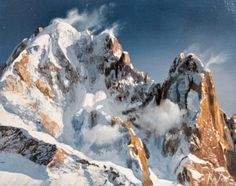 Watercolor Art Landscape, Landscape Art, Landscape Paintings, Mountain Photos, Mountain Art, French Images, Mountain Paintings, Watercolor Techniques, Tour Eiffel