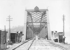 Southern approach to Hawkesbury River Railway Bridge (the original one,which was opened on 1 May 1889).A♥W