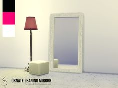 A Victorian inspired mirror with a wide, intricate frame. Comes in three modern swatches - magenta, black and white. Not shiftable and needs to be up against a wall. Found in TSR Category 'Sims 4...