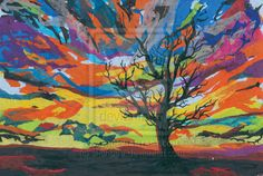 tissue paper art images | Tissue paper sunset by shanbee on deviantART