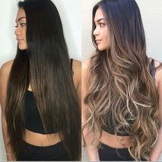 How to take care of dyed hair - - How to take care of dyed hair Tolle haare Wie man sich um gefärbtes Haar kümmert – Just Trendy Girls Brown Hair Balayage, Hair Color Balayage, Hair Highlights, Ombre Hair, Balayage Brunette Long, Long Brunette Hair, Bayalage, Hair Color And Cut, Light Brown Hair