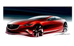 MAZDA 6 and – two Red Dots for a new automobile concept and more international recognition for the KODO design philosophy. Car Design Sketch, Car Sketch, Mazda 6, New Engine, Automotive Design, Auto Design, Transportation Design, Future Car, Car Pictures
