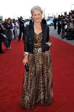 Rockin The Leopard & Leather. That woman is a legend, beautiful, with class, style and heart. She has it all!