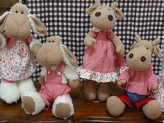 Coleção Fazendinha bonecos de pano