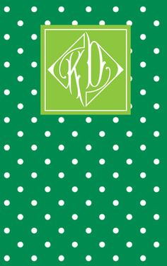 Gorgeous hand-stitched, notebook with my custom monogram (!) by May Designs. #kappadelta