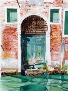 Une belle porte vers Castello, Venise