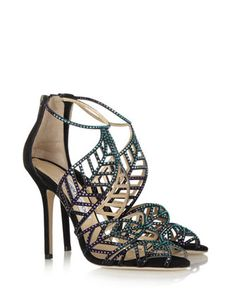JIMMY CHOO Kallai crystal-embellished suede sandals