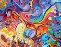 Acrylic Painting Ideas | abstract acrylic painting by jeff jagunich fine arts painting