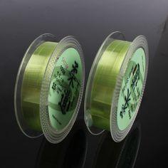 뜨거운 판매 투명 플루오로 카본 녹색 100 메터 0.6 #/0.128mm ~ 7 #/0.45 미리메터 낚시 라인 잉어 보트 바위 낚시 라인
