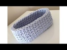 How to make crochet basket Crochet Bowl, Love Crochet, Knit Crochet, Loom Knitting, Knitting Patterns, Crochet Patterns, Crochet Storage, Crochet Decoration, Fabric Yarn