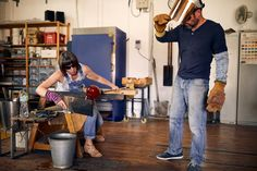 Amanda Notarianni and Charlie Macpherson, glass artists at Notarianni Glass in Poundbury in Dorset See more of The Artisans series as we showcase craftspeople in their workplaces Glass, Hot, Pictures, Artists, Home Decor, Photos, Decoration Home, Drinkware, Room Decor