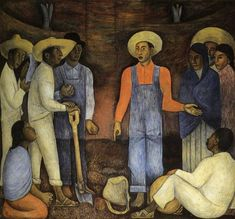 Fan account of Diego Rivera, a Mexican muralist painter, an outspoken member of the Mexican communist party and husband to Frida Kahlo. Diego Rivera Art, Diego Rivera Frida Kahlo, Frida And Diego, Social Realism, Spanish Painters, Mexican Artists, Mural Painting, Mural Art, Oil Paintings