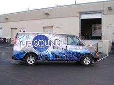 Radio Station Van Vehicle Wrap