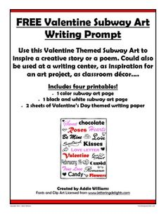 FREE Valentine's Day Writing Prompt and Writing Paper