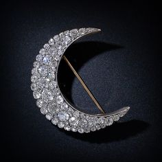 Victorian diamond crescent brooch, circa 1895.  Photograph courtesy of Lang Antiques.