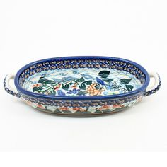 """1 3/4""""H x 5""""W x 9 1/2""""L - Quality 1 Guaranteed from the renowned Ceramika Artystyczna Boleslawiec - Polish Pottery is Oven, Microwave, and Dishwasher Safe! - Hand Painted and Stamped by Highly Skilled"""