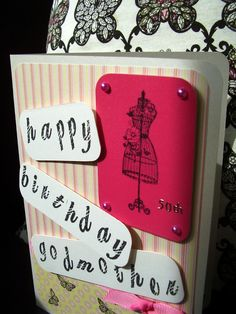 For my godmother - fashion mad 50 year old card