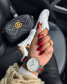 You can never go wrong with red nails  ✔ SLAY QUEEN CERTIFIED ✔ Follow, Like, Comment  ✔@theofficial_slayqueen  ---------------------------------------  #issaslay #fashion #style #stylish #nail #cute #fashionparadise #fashionblog #fashionblogger #beautiful #clothes #hair #fashionista #ootd #Follow #instatgood #like #red #rednails #gucci #gucciwatch #guccishoes