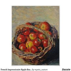 Wildlife Paintings, Nature Paintings, Landscape Paintings, Apple Baskets, Great Works Of Art, Monet Paintings, Famous Artists, Custom Posters, Impressionist