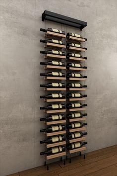 2019 г.- the new is a 24 bottle wall mounted cable wine rack f Wall Hanging Wine Rack, Wine Wall, Wall Mounted Wine Racks, Wine Bottle Wall, Wine Rack Design, Wine Cellar Design, Modern Wine Rack, Wine Cellar Modern, Contemporary Wine Racks