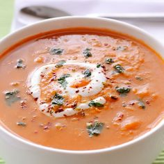 Spicy Red Lentil Soup - red lentils, carrots and spices will certainly warm you up this winter