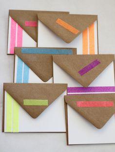 Make DIY Stationery Using Washi Tape