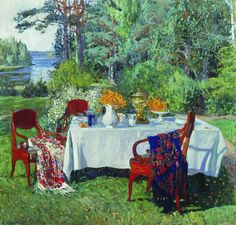 The Athenaeum - ZHUKOVSKY, Stanislav Russian (1873-1944)_In Front of the Terrace- 1912-1913