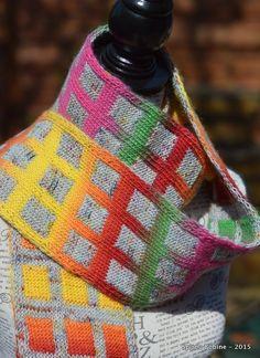 Echarpe en Double-Knitting ou Jacquard réversible