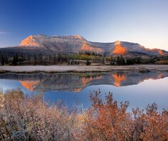 Between Waterton in Waterton Lakes National Park in Canada and Goat Haunt in Glacier National Park in the U.S.