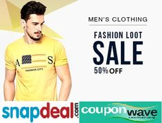 66edb9f60e8 Get Flat 50% off on Men s Branded Clothing Snapdeal is a largest online  store in