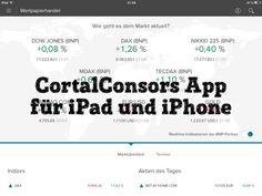 Onlinebanking App von Consors für das iPad und iPhone.