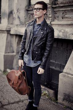 I need a leather moto jacket
