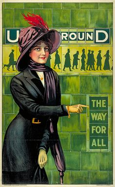 Tube Poster from 1911, Underground; the way for all, 150th birthday, advertising