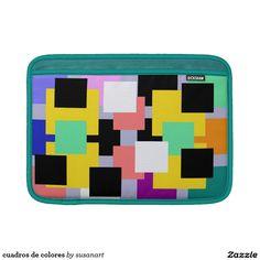 cuadros de colores fundas para macbook air