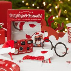 Party Props & Camera Pack – Christmas Cheer from Christmas Décor - (Save Christmas Photo Booth, Christmas Party Games, Christmas Table Decorations, Birthday Party Decorations, Christmas Photos, Christmas Projects, Christmas Themes, Kids Christmas, Holiday Crafts