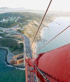 This is the view from the top of the Golden Gate Bridge
