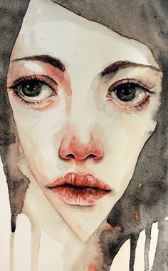 Jenny Viljaniemi #art #illustration #painting #girl #watercolour #face #portrait #character