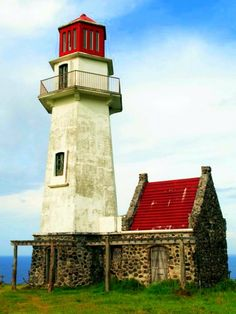 Mahatao Lighthouse or Tayid Lighthouse in Batanes, the northernmost province in the Philippines. Located in Naidi Hills in Barangay San . Batanes, Lighthouse Pictures, Lighthouse Art, Beacon Of Light, Philippines Travel, Places To Go, Beautiful Places, Around The Worlds, Tower