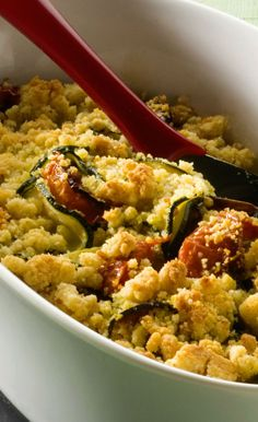 Crumble tomates courgettes
