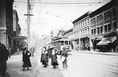 Granville Street looking north from Robson Street,. 1900s. (Photo via Vancouver Archives)