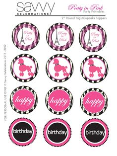 Paris cupcake toppers use the circles for cupcakes party favor free printables for a little girl birthday party by ceokce in topics art design negle Choice Image