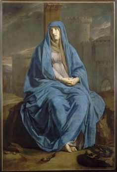 Philippe de Champaigne, The Virgin of sorrow Philippe De Champaigne, Art Bleu, Our Lady Of Sorrows, Images Of Mary, Queen Of Heaven, Jean Baptiste, Madonna And Child, Blessed Virgin Mary, Stock Art