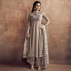 Stitched readymade muslin kameez plazzo dupatta indian women suit size l xl xxl Designer Salwar Suits, Designer Dresses, Designer Wear, Anarkali Dress, Lehenga, Trendy Outfits, Cool Outfits, Fashion Outfits, Suits For Women