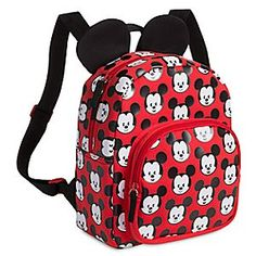 Disney Mickey Mouse Backpack - Small | Disney StoreMickey Mouse Backpack - Small - Mickey's iconic ears are perched atop this compact backpack so he can hear all the compliments it gets when you're out and about. It's no wonder Mickey's all smiles on the allover design featuring his face in an expressive mood.