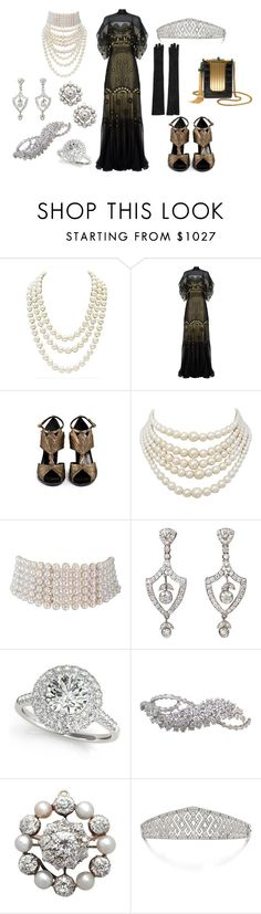"""""""24th Wedding Anniversary Dinner"""" by queenalex on Polyvore featuring Chanel, Temperley London, Lanvin, Gucci, Christian Dior, Allurez, Harry Winston and Dolce&Gabbana"""