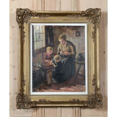 Antique Framed Oil Painting on Canvas | www.inessa.com
