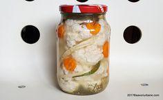 Conopida murata la borcan reteta simpla pentru iarna | Savori Urbane Voss Bottle, Water Bottle, Deli Food, Preserves, Pickles, Cucumber, Mason Jars, Goodies, Frozen