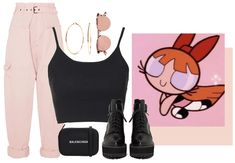the powerpuff girls' blossom. Discover outfit ideas for made with the shoplook outfit maker. How to wear ideas for Inny Cotton Tapered Pants and Balenciaga Everyday Xs Camera Disney Character Outfits, Cute Disney Outfits, Cartoon Outfits, Character Inspired Outfits, Cute Outfits, Cute Group Halloween Costumes, Halloween Outfits, Power Puff Costume, Vanellope Y Ralph
